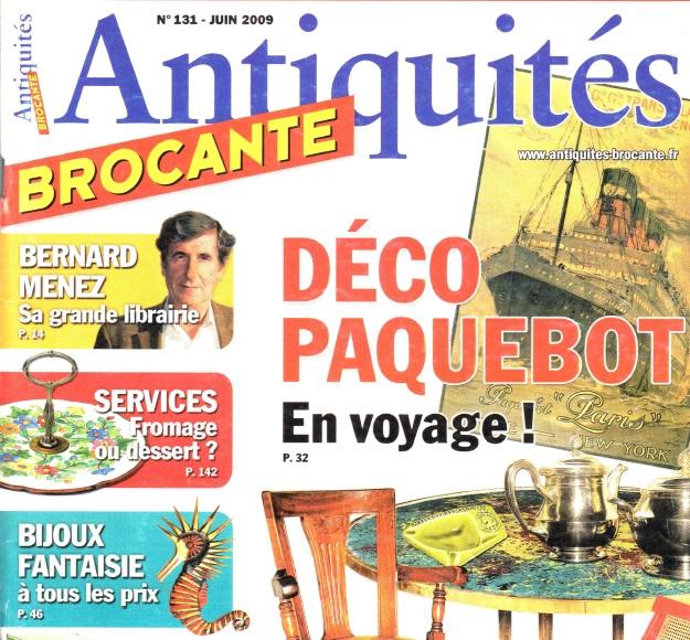Article du magazine Antiquités au sujet de l'Esprit du 8 à Rochefort-sur-Mer