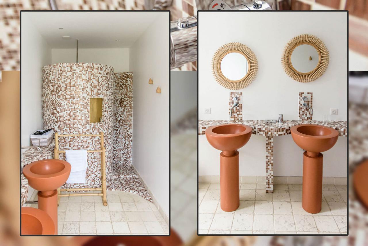 salle de bain chambre d'hôtes de charme jardin Rochefort sur mer charente maritime